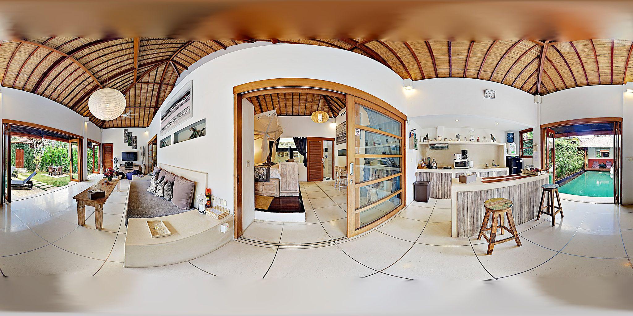 この物件の間取りや設備を 360 度自由に見ることができます。