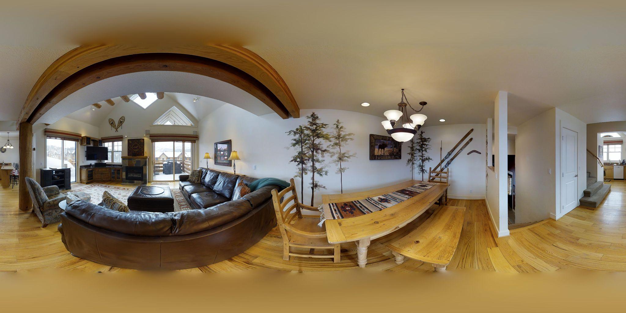 residenza di 3 piani ski-in / ski-out w / vasca ...